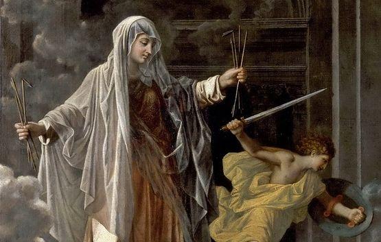 Poussin - Sainte Françoise Romaine détail 2