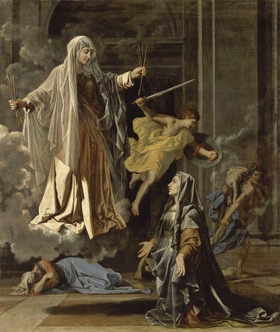 Sainte Françoise Romaine annonçant à Rome la fin de la peste - Nicolas Poussin