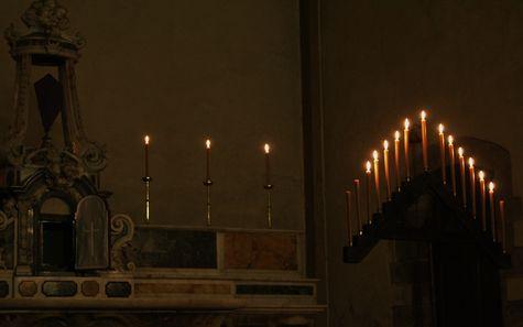 3 - herse et cierges autel