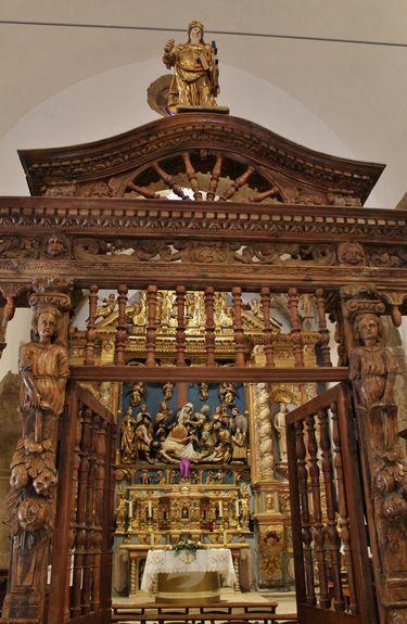 chapelle Sainte-Roseline entrée du choeur