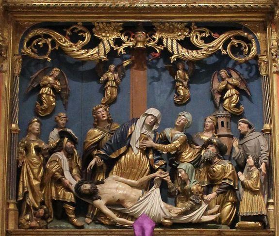 chapelle Sainte-Roseline panneau central du retable