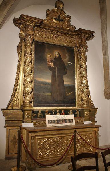Chapelle Sainte-Roseline retable de Saint Antoine de Padoue