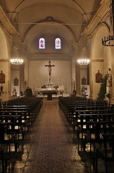 Eglise Saint-Clément vue intérieure générale