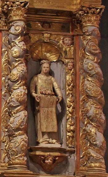 Miracle des roses - Ste Roseline - retable chapelle Sainte-Roseline 1635