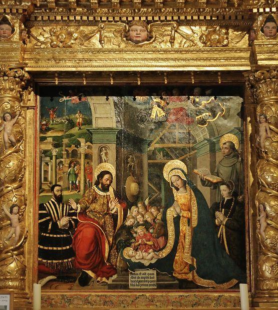 panneau central du retable de la Nativité