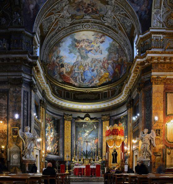 Sant' Andrea delle Fratte - intérieur
