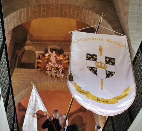 Bannière de la Confrérie Royale à la cathédrale du Puy