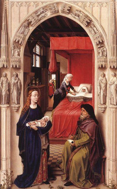 Naissance du Baptiste - Rogier Van der Weyden