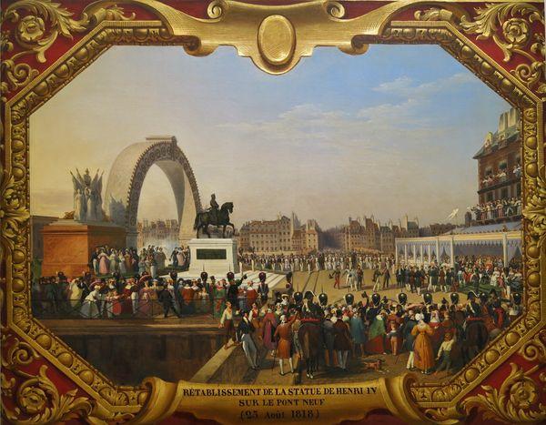 25 août 1818 rétablissement de la statue d'Henri IV au Pont-Neuf
