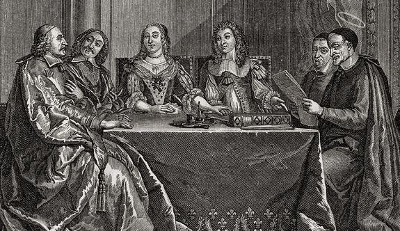 Saint Vincent de Paul au Conseil de conscience de la Reine Anne d'Autriche - détail