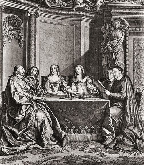 Saint Vincent de Paul au Conseil de conscience de la Reine Anne d'Autriche