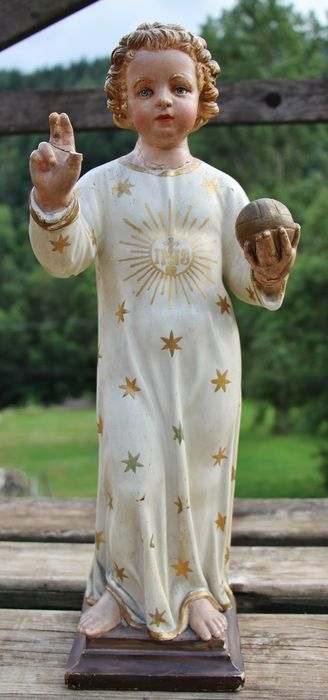 Statue de l'Enfant Jésus avant restauration