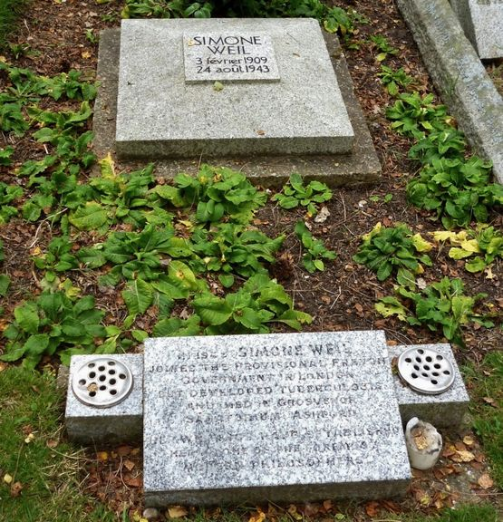 Tombe de Simone Weil - Ashford (Kent)