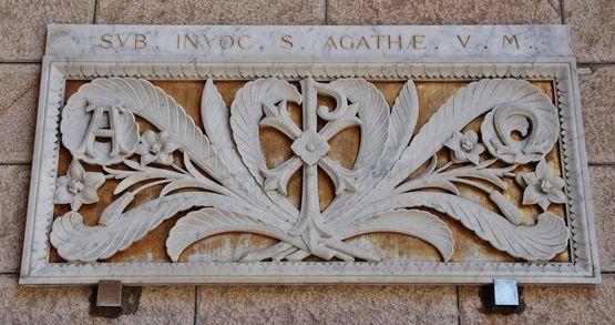 Devant de l'ancien autel de Sainte Agathe