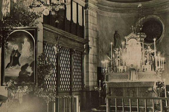 Chapelle du Cénacle soir de la béatification de Mère Thérèse Couderc 1951