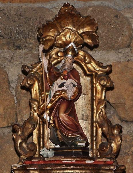 Statue de Saint Augustin - oratoire du Mesnil-Marie
