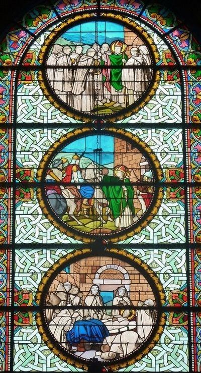 Verrière du martyre de Saint Théofrède