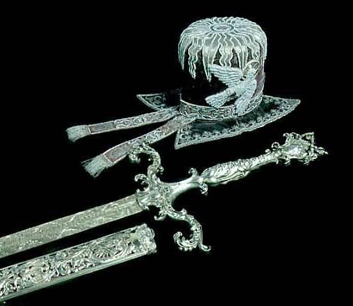 épée et chapeau du Roi Sobiesky