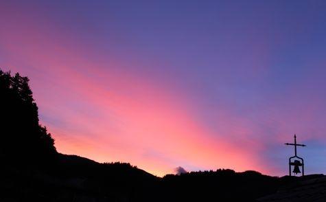 aurore d'un matin d'hiver au Mesnil-Marie