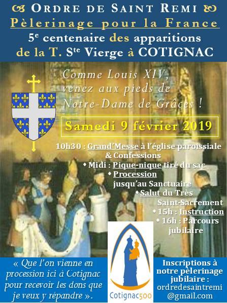 Pèlerinage à Cotignac 9 février 2019