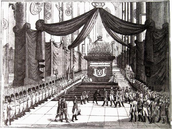 Pompe funèbre Louis XVI - Vienne 21 janvier 1815