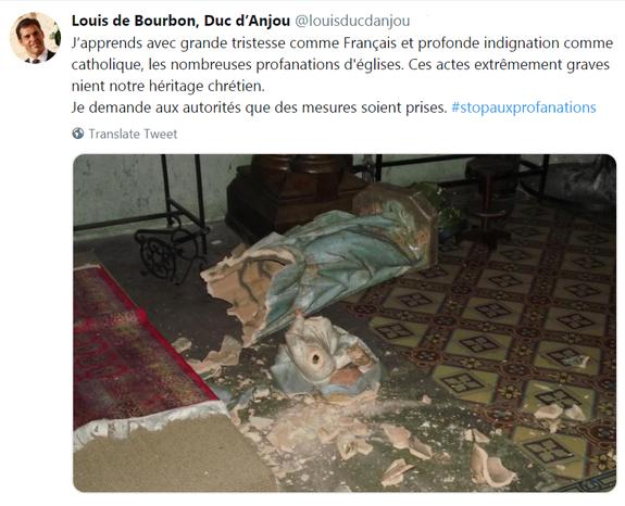 Protestation duc d'Anjou 15 février 2019