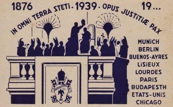 Couronnement de Pie XII - image commémorative