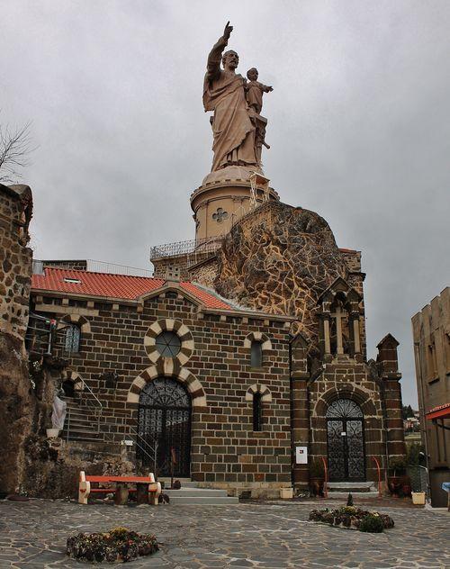 Grottes chapelles et statue monumentale - Saint-Joseph de Bon-Espoir - Espaly