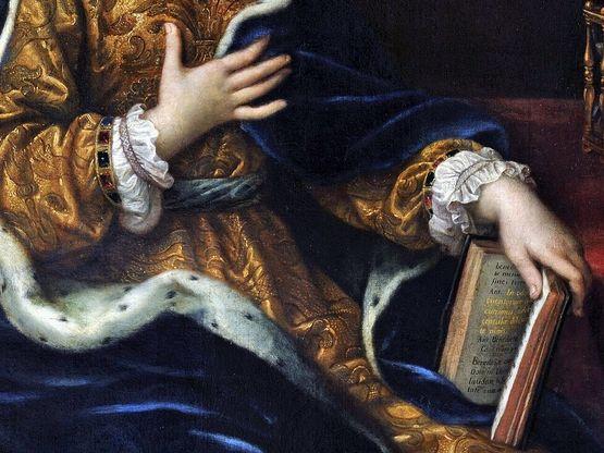 Mignard - Madame de Maintenon - détail 2