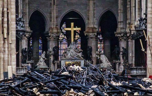 Notre-Dame de Paris après incendie