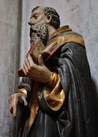 statue de saint Antoine détail