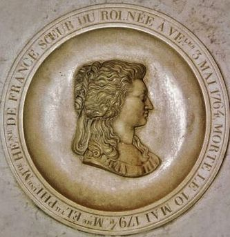Médaillon de marbre de Madame Elisabeth