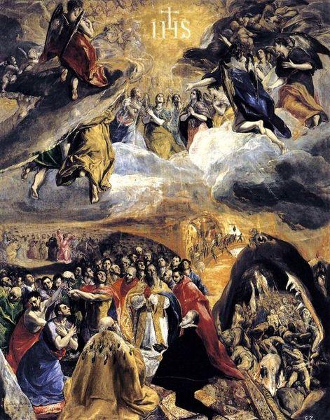 Le Greco - adoration du Saint Nom de Jésus