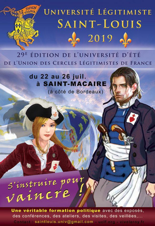 Université d'été Saint-Louis 2019