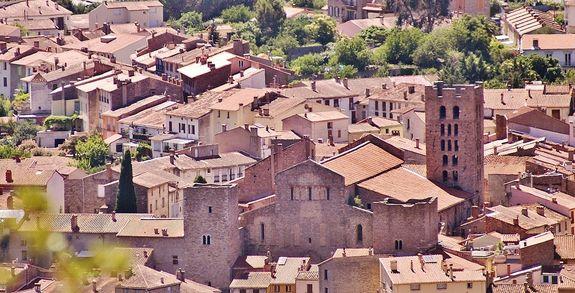 Arles-sur-Tech vue aérienne