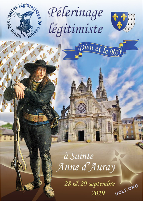 affiche pèlerinage légitimiste Sainte-Anne d'Auray 2019