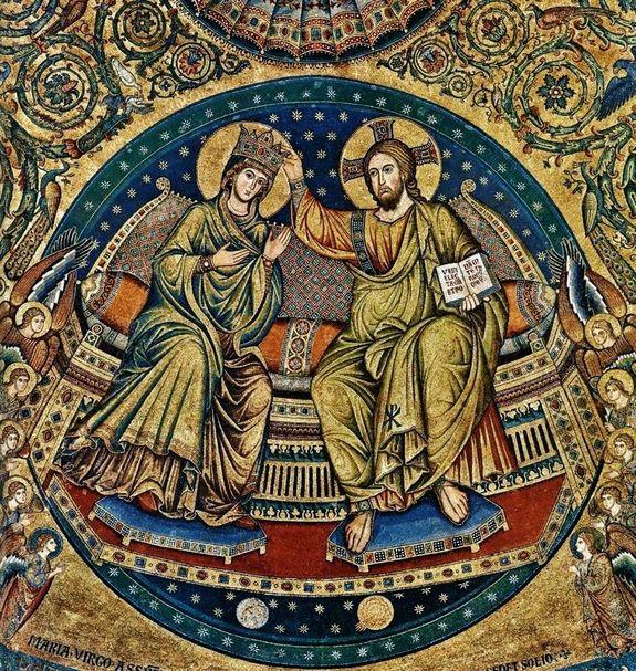 Jacopo Torriti - Basilique Sainte Marie Majeure Rome 1296 - Couronnement de Marie