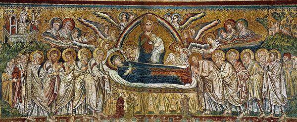 Jacopo Torriti - Basilique Sainte Marie Majeure Rome 1296 - la Dormition