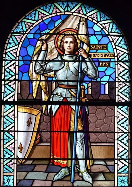 Vitrail de Sainte Jeanne d'Arc