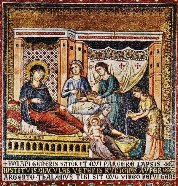 Pietro  Cavallini - Nativité de la Vierge vers 1291