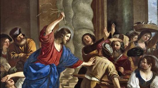 Le Guerchin Jésus chassant les vendeurs du Temple