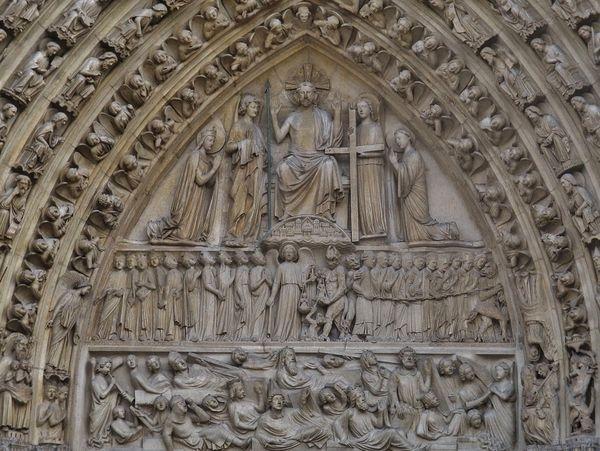 Tympan du Jugement dernier - Notre-Dame de Paris
