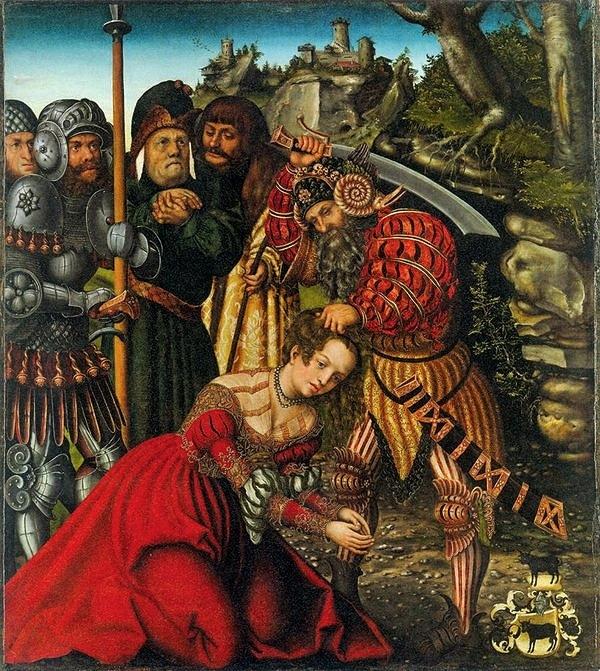 Lucas Cranach le vieux - martyre de Sainte Barbe 1510