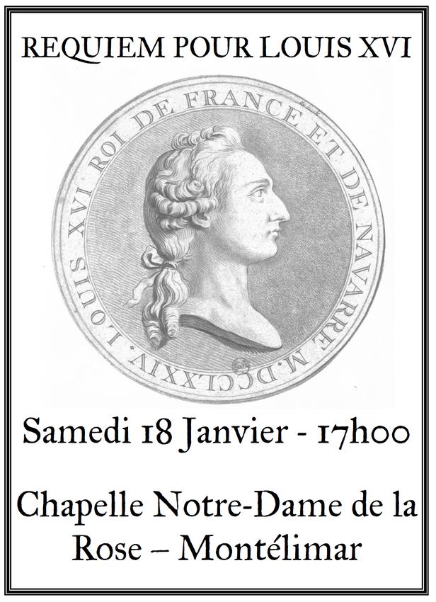 annonce Messe de Requiem Louis XVI Montélimar 2020