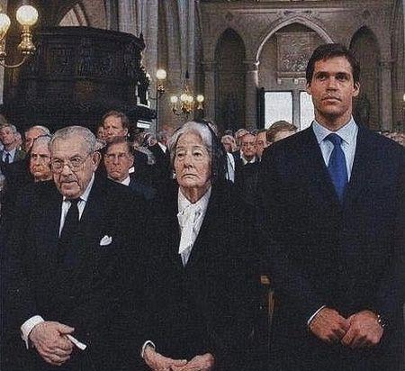 Duc de Bauffremont avec la duchesse de Ségovie et Louis XX