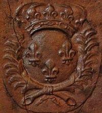 Plaque de la cheminée - détail