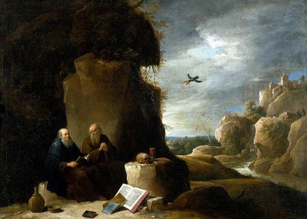 Visite de Saint Antoine à Saint Paul - David II Teniers