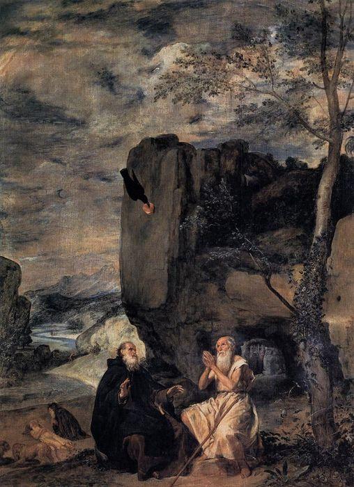 Visite de Saint Antoine à Saint Paul - Diego Velasquez