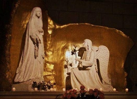 La Vierge Marie et l'ange Gabriel