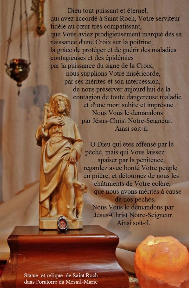 Prière à Saint Roch en temps d'épidémie